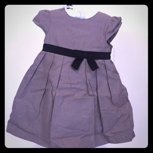 Carters formal Grey dress with black belt 18M New